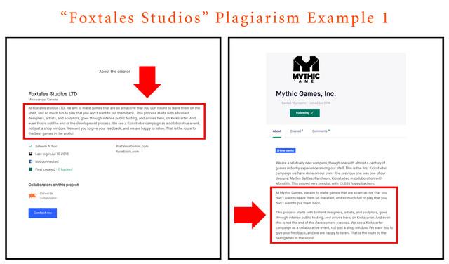 foxtales plagiarism