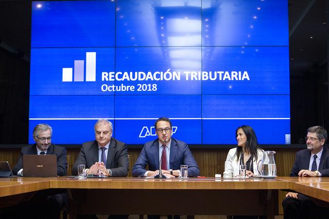 El-adminitrador-federal-Leandro-Cuccioli-centro-presentado-el-informe-de-la-recaudacion-de-octubre-2018