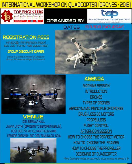 Quadcopter Drones2k18