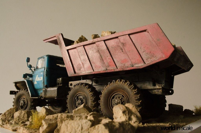 "Ural-4320 ""Dumper Truck"" - 1/35 by Trumpeter, Balaton Modell 25438885_960247434142772_520753018727552316_o"