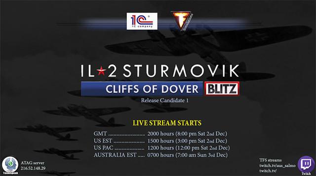 Livestream TF4 5 Sat 2nd & Sun 3d Dec