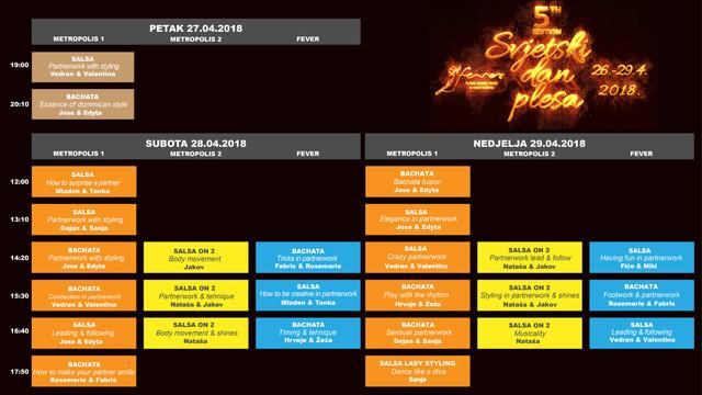 Svjetski Dan Plesa2018 Workshops Schedule