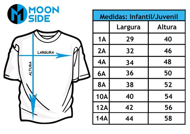 Tabela de Tamanhos Infantil e Juvenil Moon Side Store.