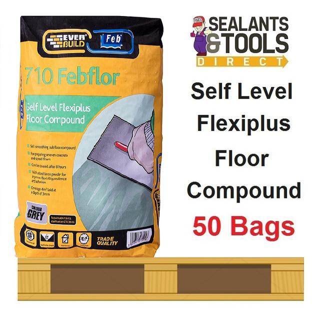 Everbuild 710 Febflor Self Level Flexiplus Floor Levelling Compound Pallet
