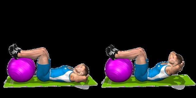 Crunch gambe su fitball
