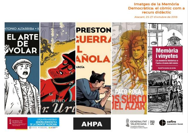 """Exposició i Jornades """"Imatges de la Memòria Democràtica: el còmic com a recurs didàctic"""""""