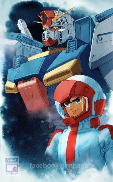 ZZ Gundam อิลัสเตรด  โดย gon pumjorn