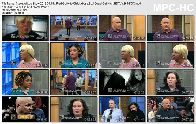 Steve Wilkos Show 2018 04 19 I Pled Guilty to Child Abuse So I Could Get High HDTV x264-FOX mp4