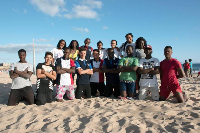 Сила Молодых на пляже...