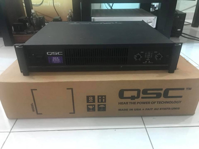 QSC 2422 Mini Theater Power amp USA! USA! USA!  29792065_10160106703725648_2470667955026513460_n
