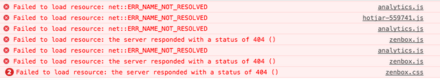 failed to load resource net err_connection_refused