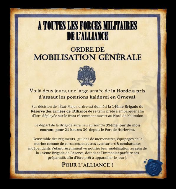 Proclamation de l'Etat-Major : Appel aux armes Mobilisationgenerale_annonce_date_de_depart