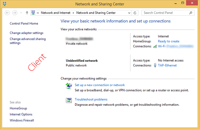 How to make openVPN work over windows 8 1 firewall as a