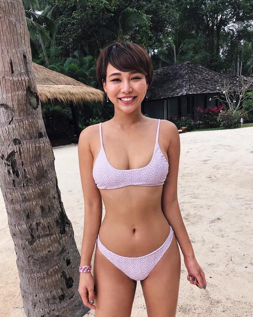 小麥色Body成熟短髮禦姐_比基尼極品美翹臀視角!Julia
