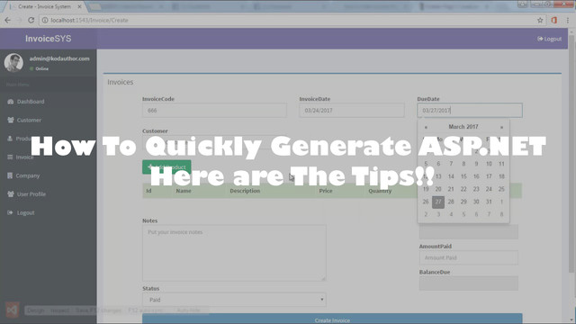 How To Quickly Generate ASP.NET Here Are The Tips!!