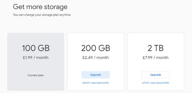 Google One (storage)    Bargain? - Page 1 - Computers