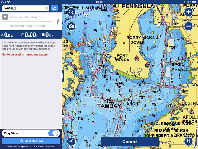 Dock to dock auto routing and the navionics app the hull for Navionics fishing app