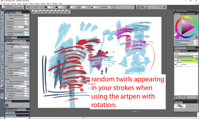 random twirls in strokes
