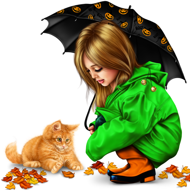 little-girl-in-raincoat-with-a-kitty-png-10898cb2965758675b.png