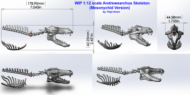 Andrewsarchus Mesonychid Skeleton Preview 1