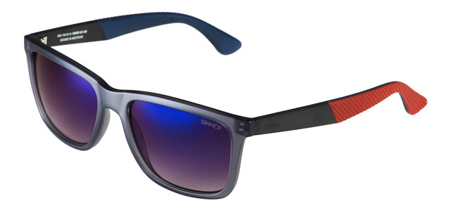 b97fc383481 Details about Sinner Bretton Rectangar Sunglasses Matte Grey   Polarised  Blue Mirrored Lens