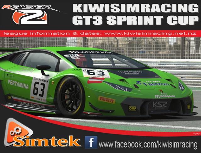 NZrFL:40 KSR GT3 Sprint Cup (rFactor2) - KiwiSimRacing