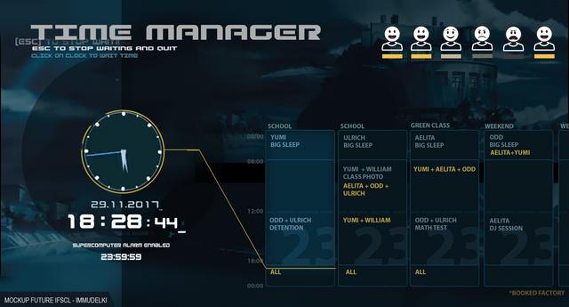 mockup Time Manager