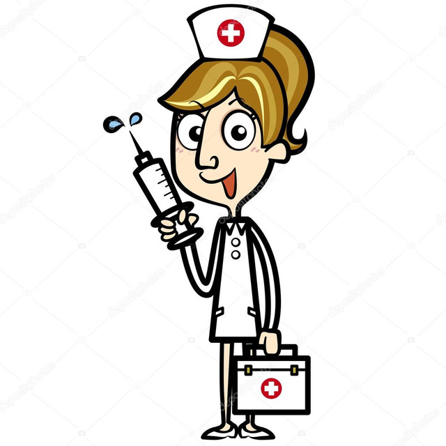depositphotos 22295465 stock illustration cartoon nurse with first aid