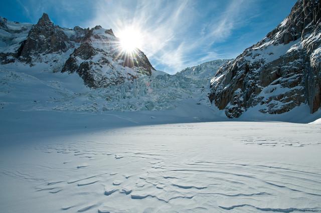 Skiën op gletsjer