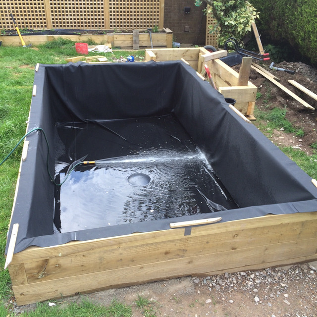 My new build pond 10 000 litres semi raised page 9 for Pond drain design