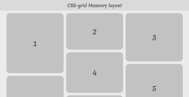 Pure-CSS Masonry layout