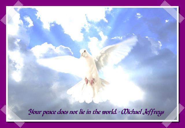 mj peaceless world dove sky pic quote framed