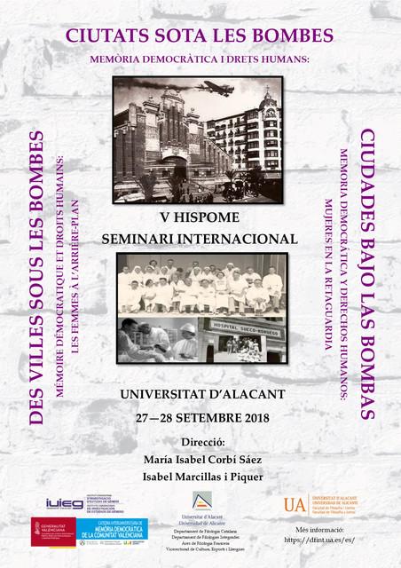 """Seminario """"Ciudades bajo las bombas. Memória democrática y derechos humanos"""""""