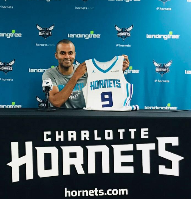 LOOK: Tony Parker shows off his Hornets jersey and it just feels ...