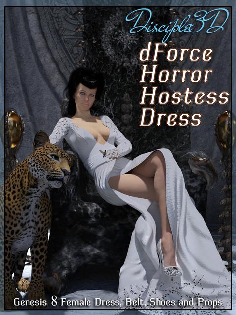 dForce Horror Hostess Dress for G8F