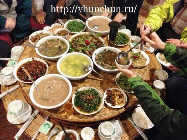 Еда в Хуньчуне