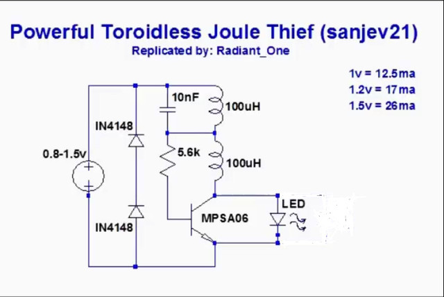 trying to build a joule thief rh candlepowerforums com LED Joule Thief Circuit White Joule Thief Circuit Air Core