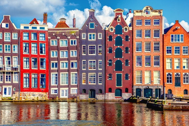 Amsterdam gabled houses