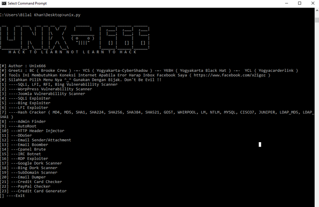 Unix666 Toolkit v1.1