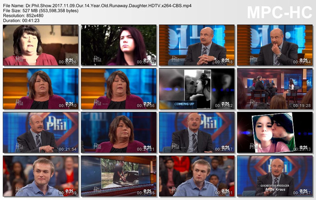 Dr Phil Show 2017 11 09 Our 14 Year Old Runaway Daughter HDTV x264-CBS