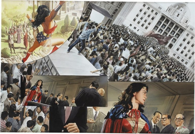 Wonder Woman Spirit of Truth pages 20 21 Alex Ross 768x528