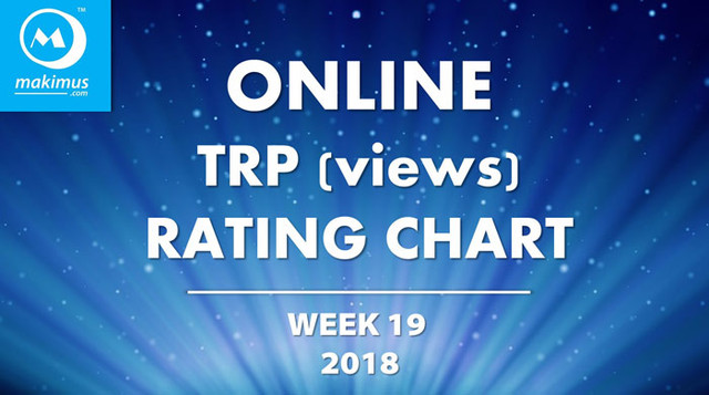 Latest Online TRP Ratings of Week 19, 2018. These are the latest Online TRP Chart of top Indian TV serials