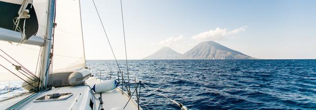 Italy yacht sailing stromboli
