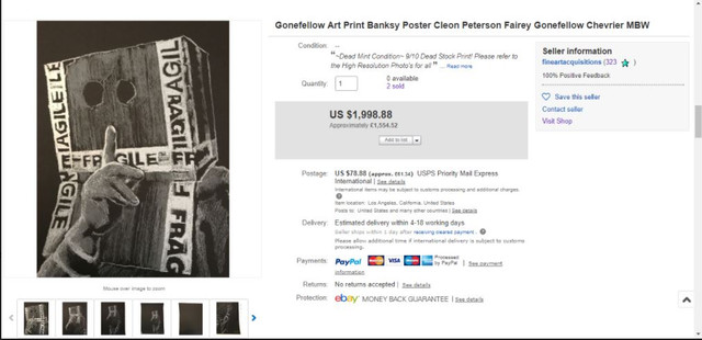 boxhead ebay sale