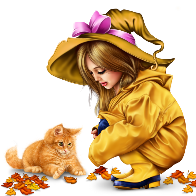 little-girl-in-raincoat-with-a-kitty-png-3b6a859da5ed4f009.png