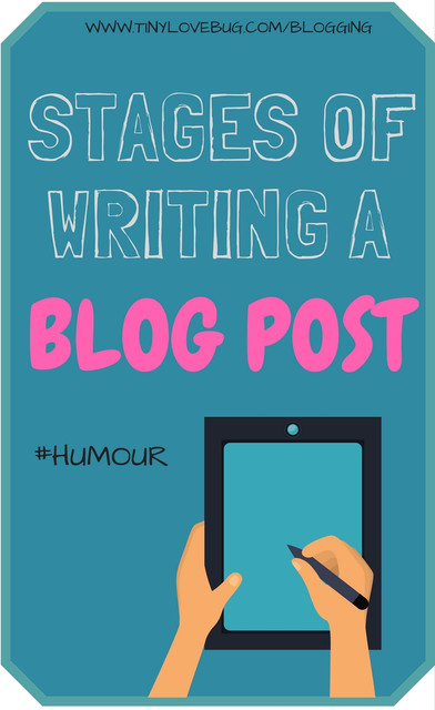 stages of writing a blog post