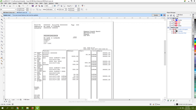 RBS Bank Statement cdr template
