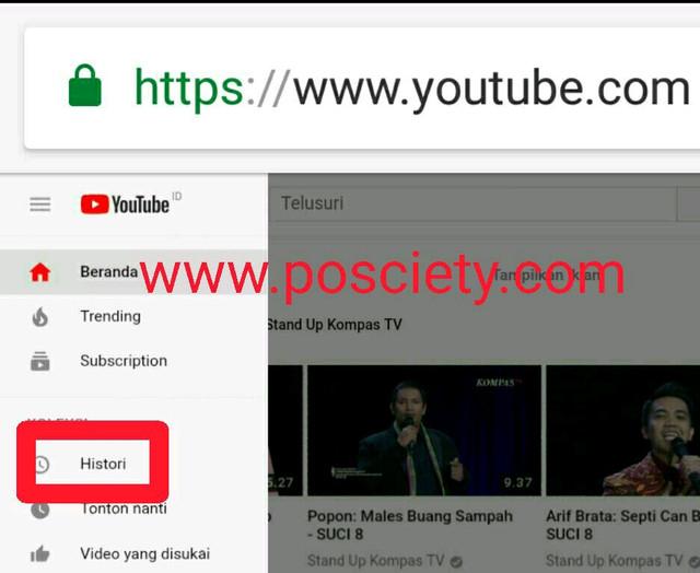 Gambar 2 histori youtube browser