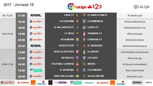 LALIGA 1|2|3  2017/2018 - HORARIOS-https://preview.ibb.co/fX21pb/19.jpg