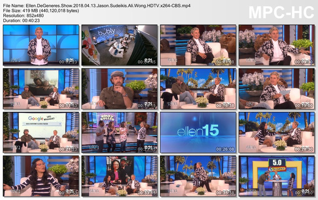 Ellen DeGeneres Show 2018 04 13 Jason Sudeikis Ali Wong HDTV x264-CBS mp4